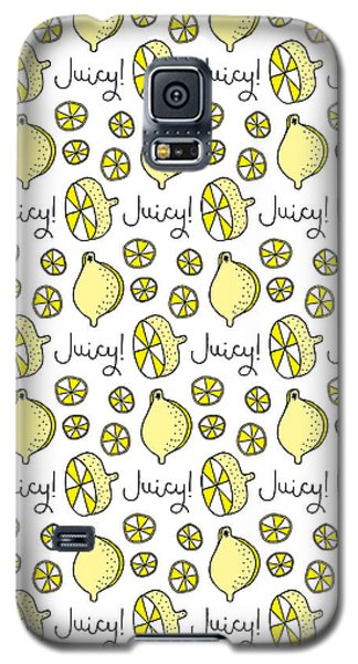 Repeat Prtin - Juicy Lemon Galaxy S5 Case by Susan Claire