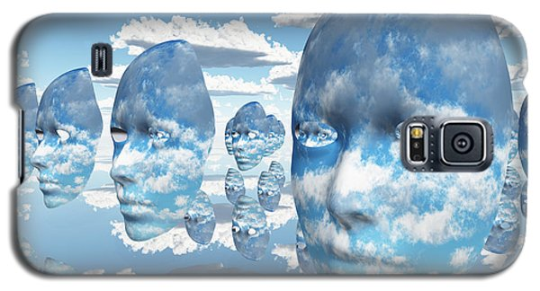 Repeating Faces Of Clouds Galaxy S5 Case by Bruce Rolff
