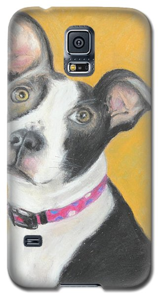 Galaxy S5 Case featuring the painting Rescued Pit Bull by Jeanne Fischer