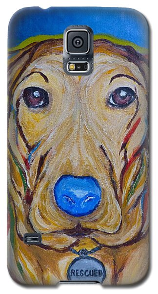 Galaxy S5 Case featuring the painting Rescued by Victoria Lakes