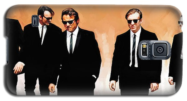 Galaxy S5 Case featuring the painting Reservoir Dogs Movie Artwork 1 by Sheraz A