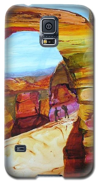 Galaxy S5 Case featuring the painting Rest Break by Keith Thue