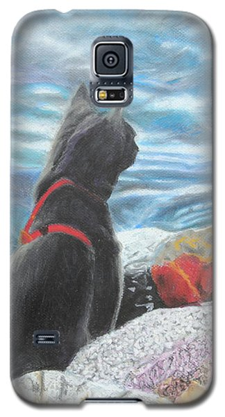Galaxy S5 Case featuring the painting Resting By The Shore by Jeanne Fischer