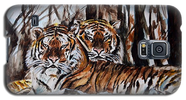 Galaxy S5 Case featuring the painting Resting by Harsh Malik
