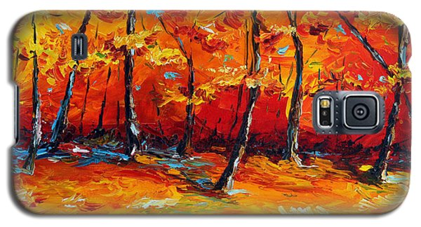 Galaxy S5 Case featuring the painting Resting In Your Shadow by Meaghan Troup