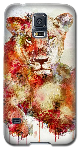 Resting Lioness In Watercolor Galaxy S5 Case