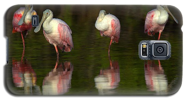 Galaxy S5 Case featuring the photograph Resting Roseates by Myrna Bradshaw