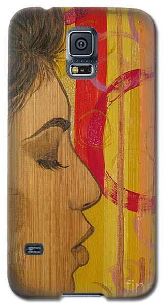 Galaxy S5 Case featuring the mixed media Restless In Wonderment 3 by Malinda  Prudhomme