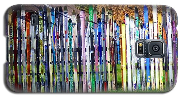 Galaxy S5 Case featuring the photograph Retired Skis  by Jackie Carpenter