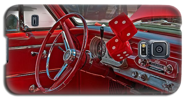 Galaxy S5 Case featuring the photograph Retro Chevy Car Interior Art Prints by Valerie Garner
