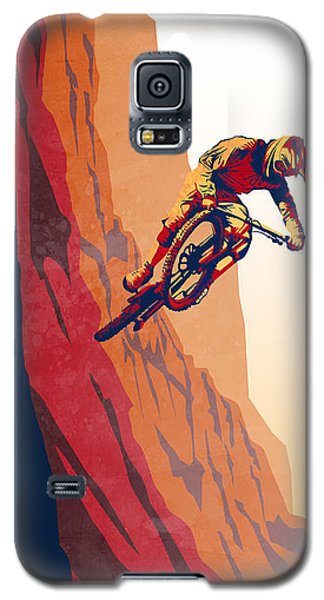 Retro Cycling Fine Art Poster Good To The Last Drop Galaxy S5 Case by Sassan Filsoof