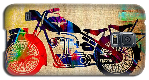 Retro Motorcycle Galaxy S5 Case by Marvin Blaine