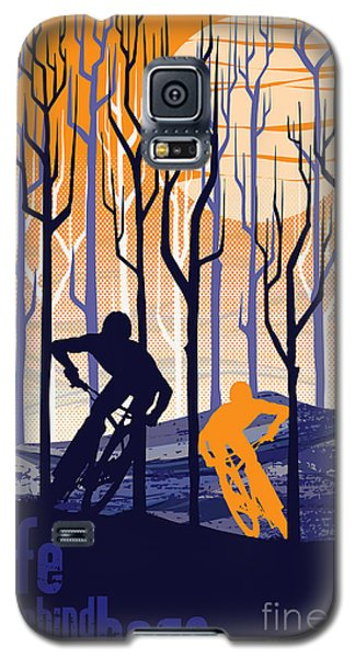Retro Mountain Bike Poster Life Behind Bars Galaxy S5 Case