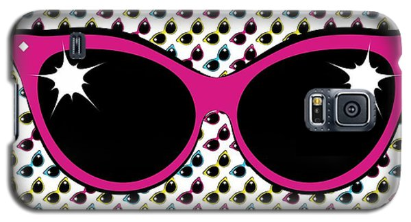 Retro Pink Cat Sunglasses Galaxy S5 Case