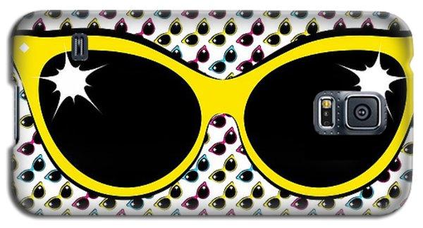 Retro Yellow Cat Sunglasses Galaxy S5 Case