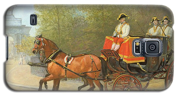 Returning From Her Majestys Drawing Room Galaxy S5 Case by Alfred Corbould