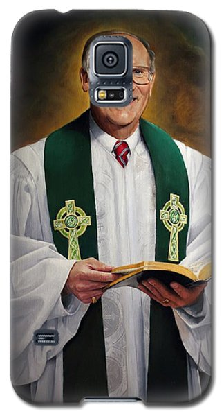 Galaxy S5 Case featuring the painting Rev Fred Hausten by Glenn Beasley