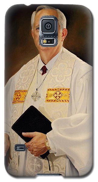 Galaxy S5 Case featuring the painting Rev Sieg Johnson by Glenn Beasley