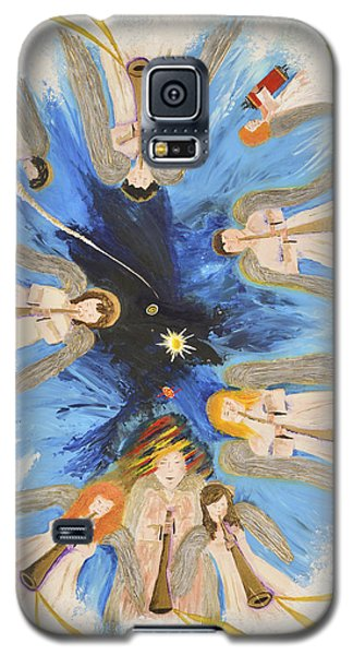 Galaxy S5 Case featuring the painting Revelation 8-11 by Cassie Sears