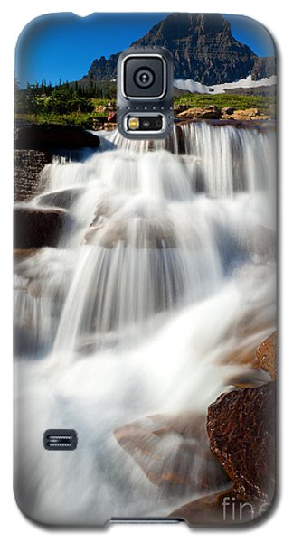 Galaxy S5 Case featuring the photograph Reynolds Peak Waterfall by Aaron Whittemore