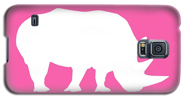 Rhino In Pink And White Galaxy S5 Case
