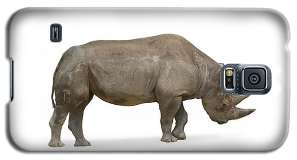 Galaxy S5 Case featuring the photograph Rhinoceros by Charles Beeler