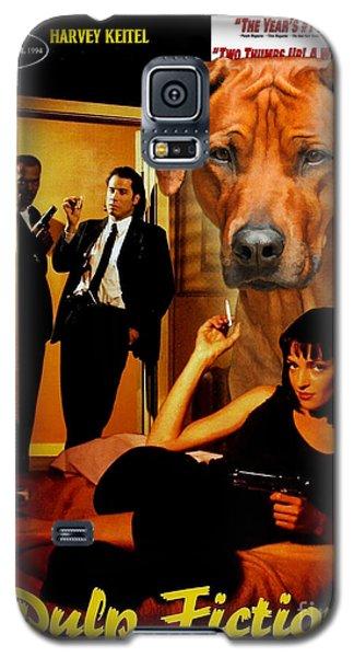 Rhodesian Ridgeback Art Canvas Print - Pulp Fiction Movie Poster Galaxy S5 Case