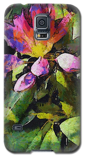Galaxy S5 Case featuring the digital art Rhododendron Explosion by Spyder Webb