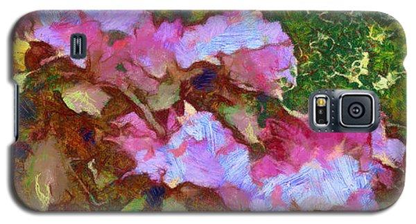 Galaxy S5 Case featuring the digital art Rhododendron Splash by Spyder Webb
