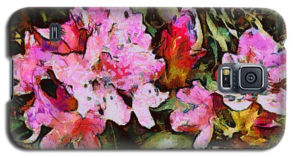 Galaxy S5 Case featuring the digital art Rhododendrons One by Spyder Webb