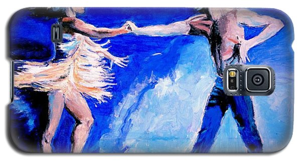 Galaxy S5 Case featuring the painting Rhythm Is Going To Get You 2 by Judy Kay