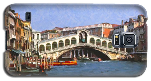 Galaxy S5 Case featuring the digital art Rialto Bridge Venice by Spyder Webb
