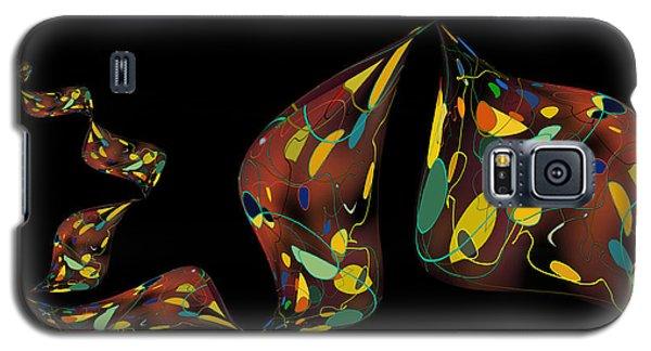 Galaxy S5 Case featuring the digital art Ribbon Bubbles by Constance Krejci