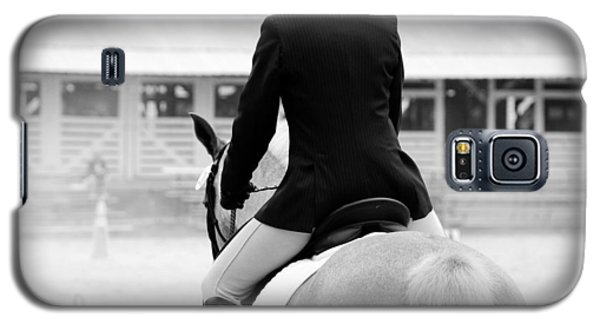 Galaxy S5 Case featuring the photograph Rider In Black And White by Jennifer Ancker