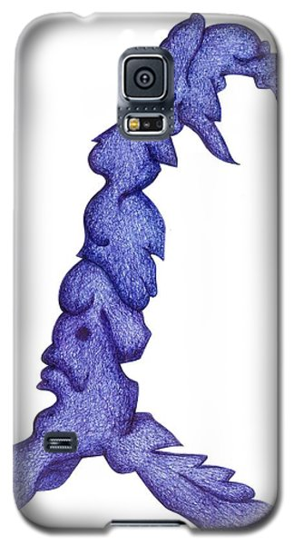 Galaxy S5 Case featuring the drawing Rider On The Storm by Giuseppe Epifani