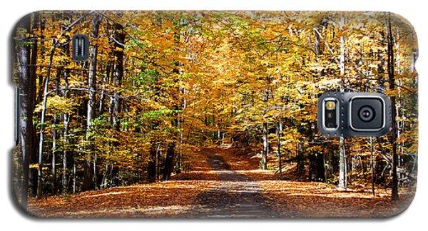Galaxy S5 Case featuring the photograph Ridge Road In Fall by John Freidenberg