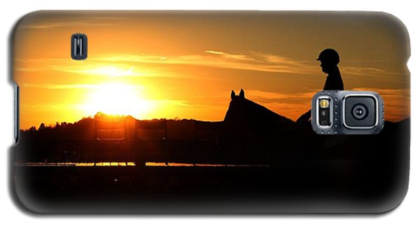 Riding At Sunset Galaxy S5 Case