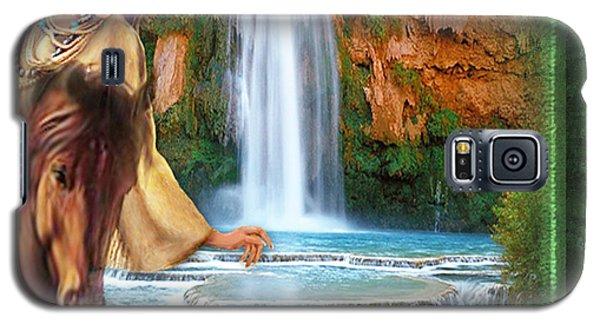 Galaxy S5 Case featuring the digital art Riding By Havasu Falls  - Digital Art By Giada Rossi by Giada Rossi