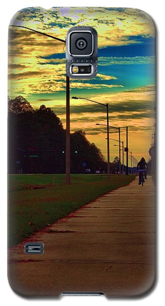 Riding Into The Sunset Galaxy S5 Case