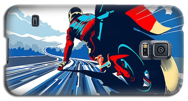Motorcycle Galaxy S5 Case - Riding On The Edge by Sassan Filsoof