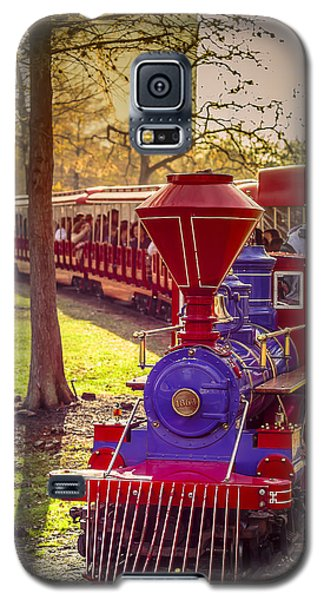 Riding Out Of The Sunset On The Hermann Park Train Galaxy S5 Case