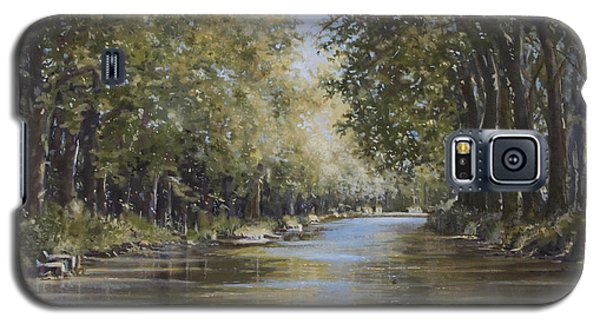 Galaxy S5 Case featuring the painting The Canal by Margit Sampogna