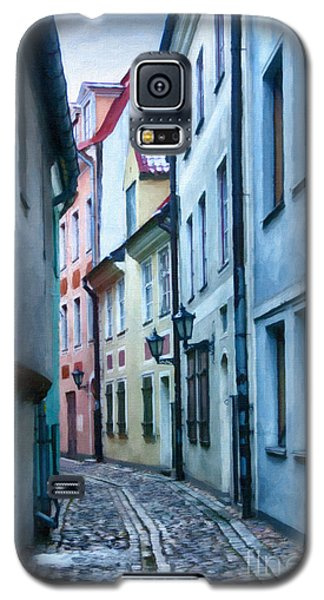 Riga Narrow Street Painting Galaxy S5 Case