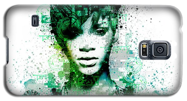 Rihanna 5 Galaxy S5 Case by Bekim Art