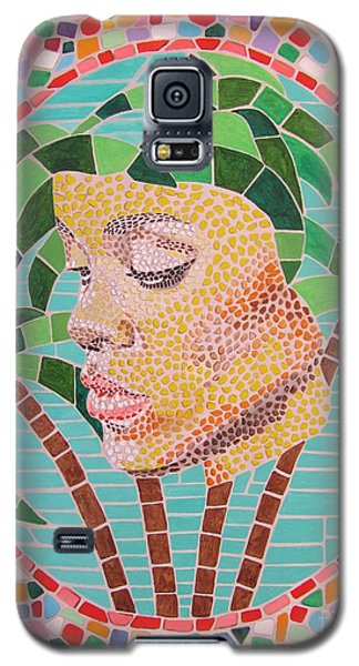 Galaxy S5 Case featuring the painting Rihanna Portrait Painting In Mosaic  by Jeepee Aero