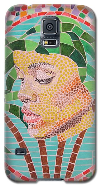 Rihanna Portrait Painting In Mosaic  Galaxy S5 Case