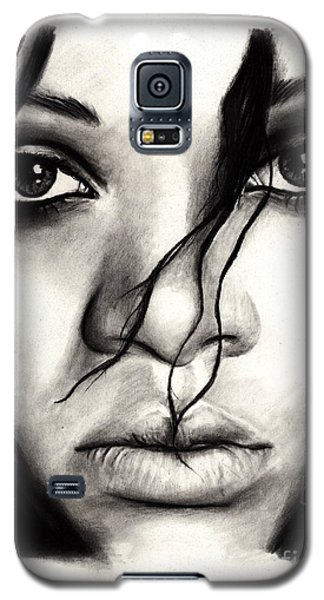 Rihanna Galaxy S5 Case by Rosalinda Markle