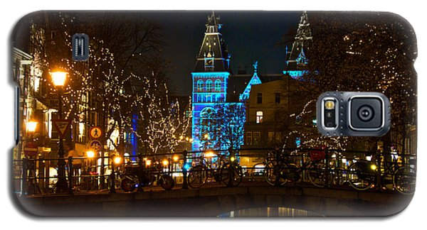 Galaxy S5 Case featuring the photograph Rijksmuseum At Night by Jonah  Anderson