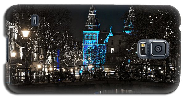 Galaxy S5 Case featuring the photograph Rijksmuseum In Blue by Jonah  Anderson