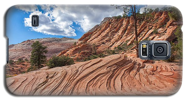 Galaxy S5 Case featuring the photograph Rippled Rock At Zion National Park by John M Bailey
